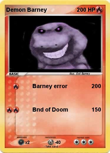 Pokemon Demon Barney