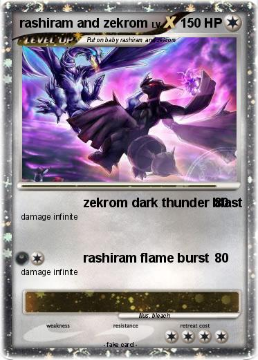 Pokemon rashiram and zekrom