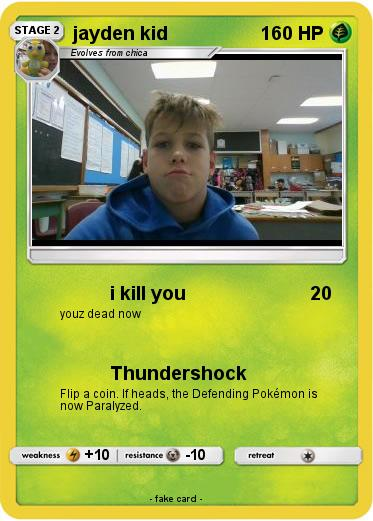 Pokemon jayden kid