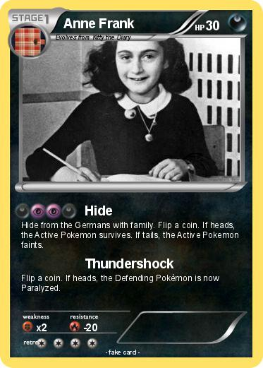 Pokemon Anne Frank