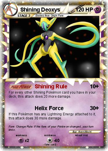 Pokemon Shining Deoxys