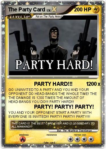 Pokemon The Party Card