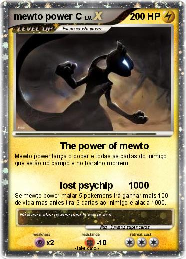 Pokemon mewto power C