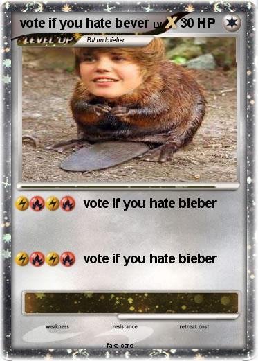 Pokemon vote if you hate bever
