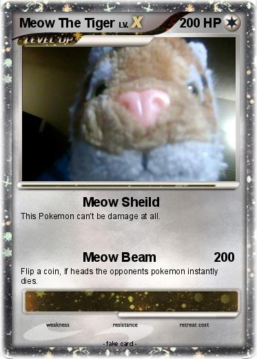 Pokemon Meow The Tiger