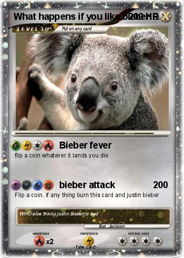 Pokemon What happens if you like bieber