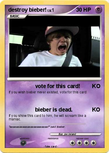 Pokemon destroy bieber!