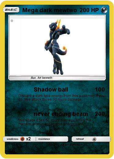 Pokemon Mega dark mewtwo