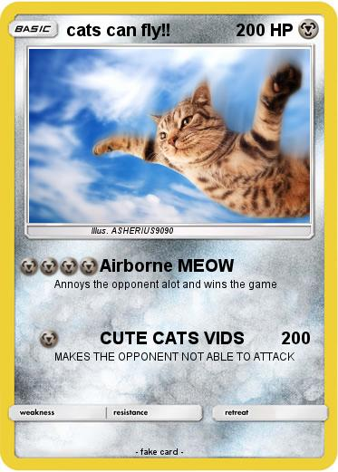 Pokemon cats can fly!!