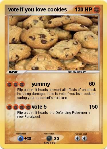 Pokemon vote if you love cookies