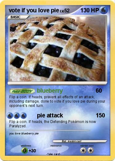 Pokemon vote if you love pie