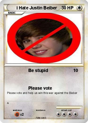 Pokemon i Hate Justin Beiber