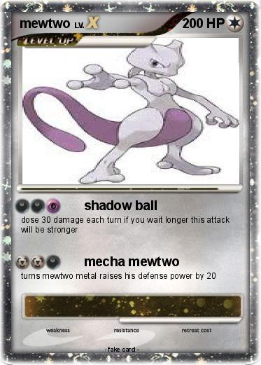 Pokemon mewtwo