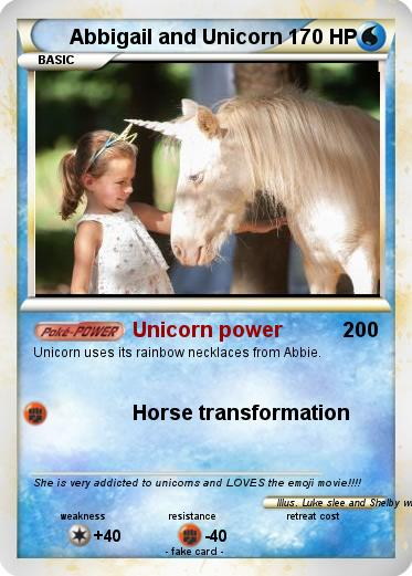 Pokemon Abbigail and Unicorn