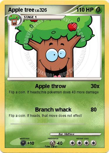 Pokemon Apple tree