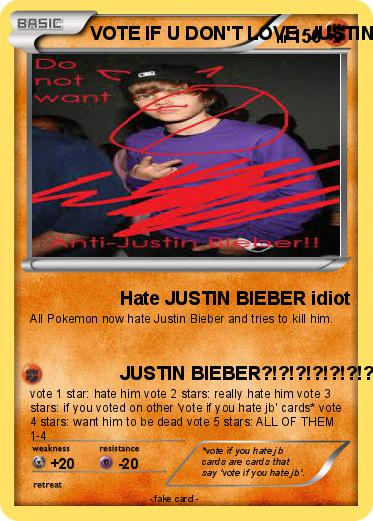 Pokemon VOTE IF U DON'T LOVE  JUSTIN BIEBER