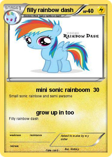 Pokemon filly rainbow dash