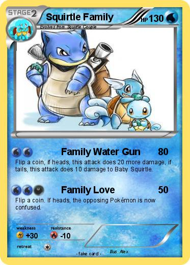 Pokemon Squirtle Family