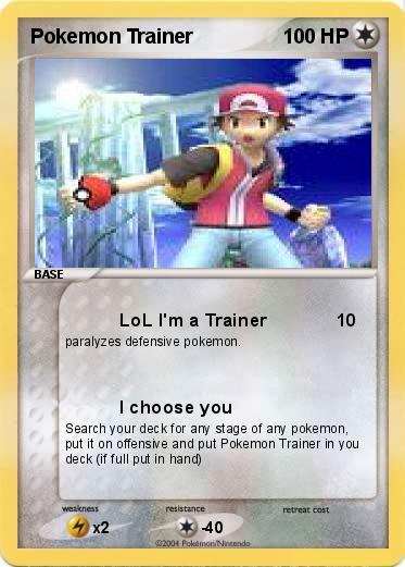 Pokemon Pokemon Trainer
