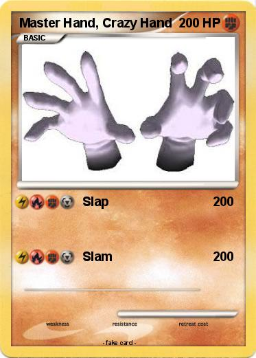 Pokemon Master Hand, Crazy Hand