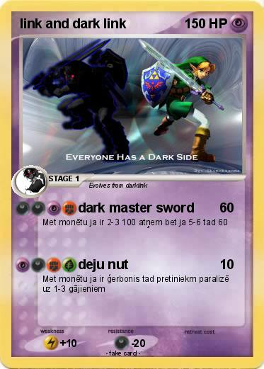 Pokemon link and dark link