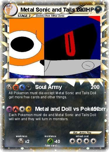 Pokemon Metal Sonic and Tails Doll