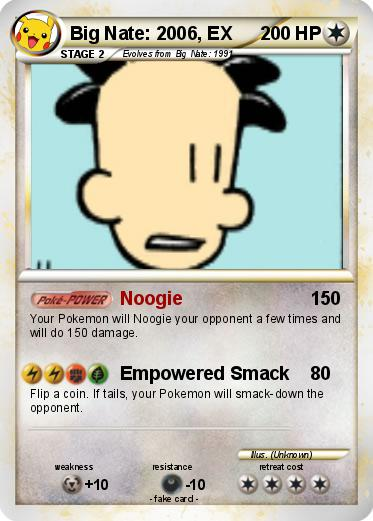 Pokemon Big Nate: 2006, EX