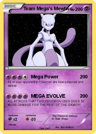 Pokemon Team Mega's Mewtwo