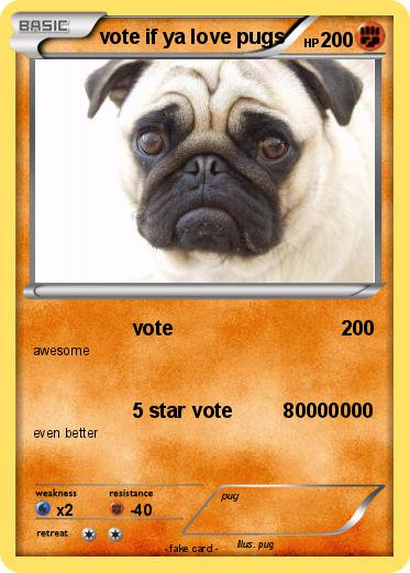 Pokemon vote if ya love pugs