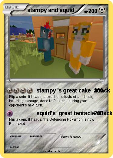 Pokemon stampy and squid