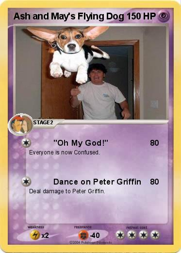 Pokemon Ash and May's Flying Dog