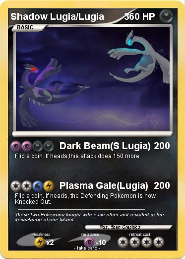 Pokemon Shadow Lugia/Lugia        3