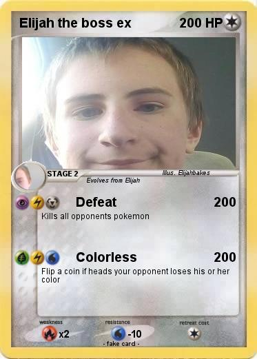 Pokemon Elijah the boss ex