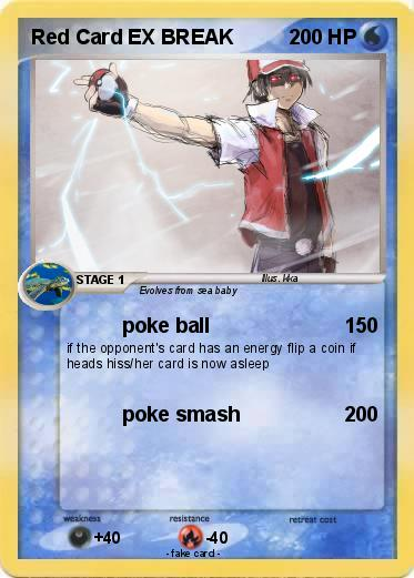 Pokemon Red Card EX BREAK