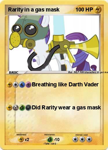 Pokemon Rarity in a gas mask