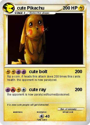 Pokemon cute Pikachu