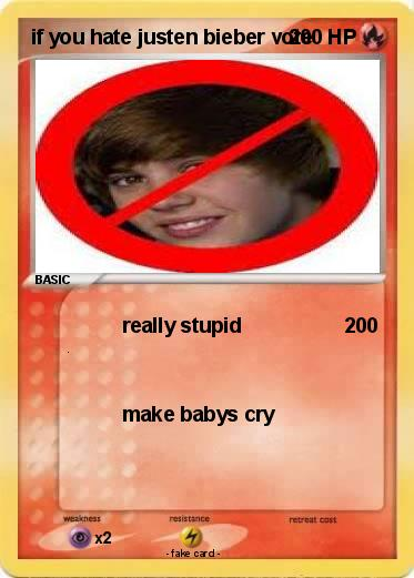 Pokemon if you hate justen bieber vote