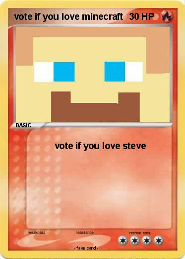 Pokemon vote if you love minecraft