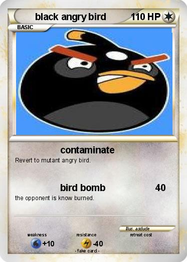 Pokemon black angry bird