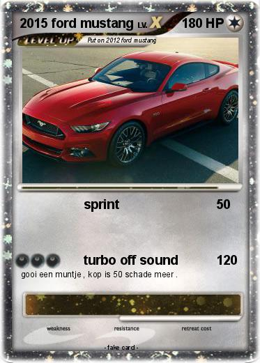 Pokemon 2015 ford mustang