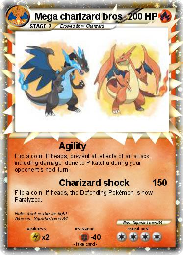 Pokemon Mega charizard bros