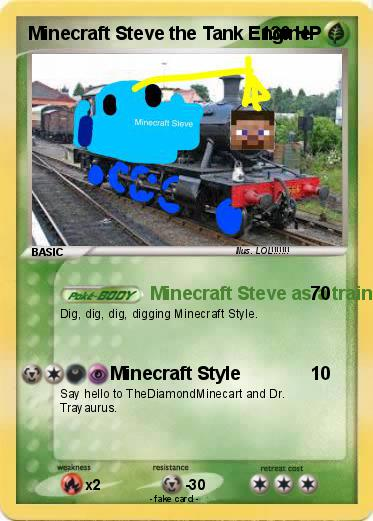 Pokemon Minecraft Steve the Tank Engine