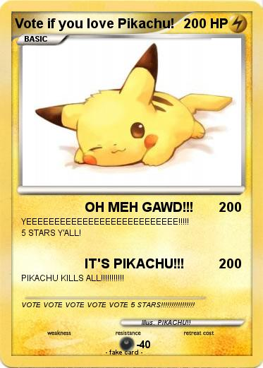 Pokemon Vote if you love Pikachu!
