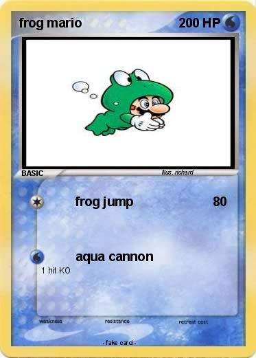 Pokemon frog mario