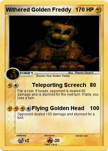 Pokemon Withered Golden Freddy