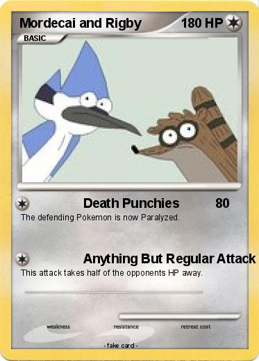 Pokemon Mordecai and Rigby