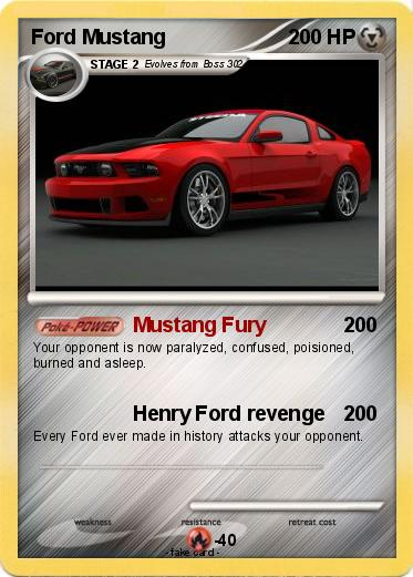 Pokemon Ford Mustang