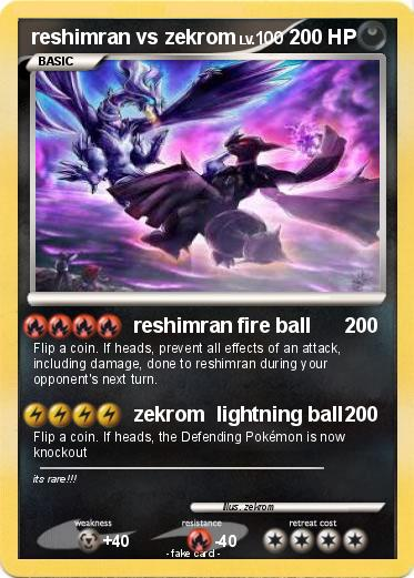 Pokemon reshimran vs zekrom