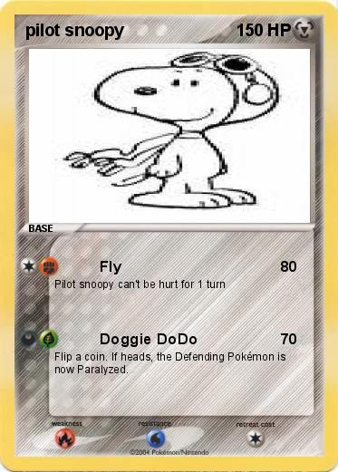 Pokemon pilot snoopy