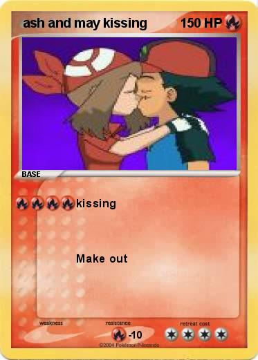 Pokemon  ash and may kissing
